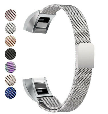 Breathable SS Steel Milanese Mesh Wrist Band Strap XS/S/L For Fitbit Alta/HR/Ace