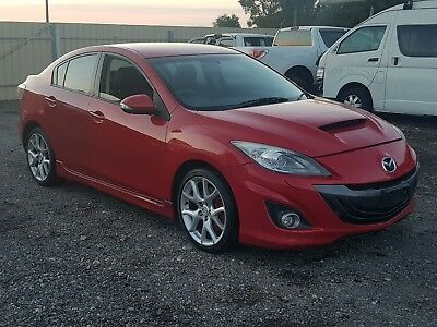 2010 MAZDA 3 SEDAN BL 2.3L TURBO 6SPD MANUAL 6KMS DAMAGED STOLEN NO VIV like MPS