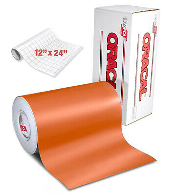 ORACAL 631 Matte Orange Adhesive Craft Vinyl 30cm x 1.8m for Cameo, Cricut &