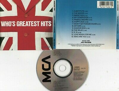 Who-Who's Greatest Hits Cd (My Generation/Won't Get Fooled Again/Squeeze Box)
