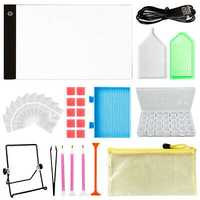 Y-Step A4 LED Light Pad, Light Board Stand Holder and 30 Pieces 5D Diamond