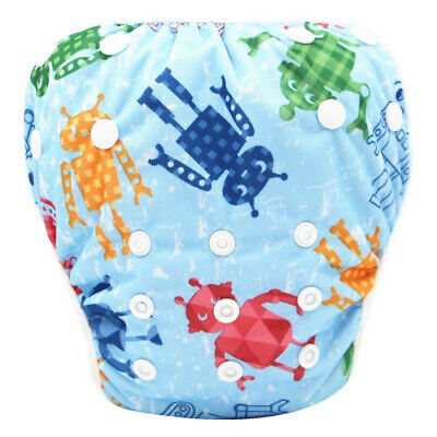 (F) - Baby Swim Nappy, Kingko Waterproof Adjustable Cloth Nappies Pool Pant Oh