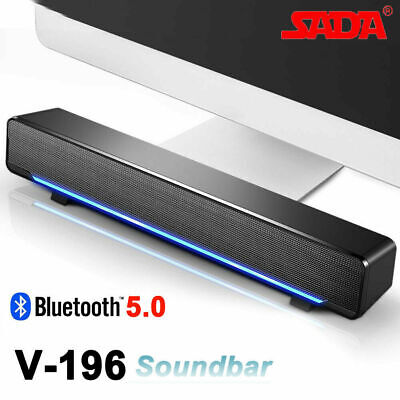 Speaker Soundbar Stereo Subwoofer Home Theater Sound Box for TV/PC/Smart Phone