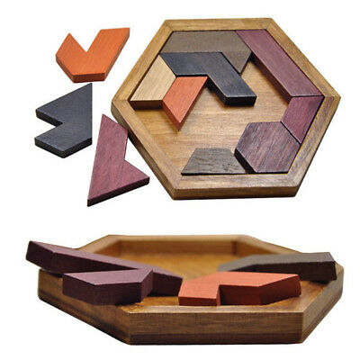 Wooden Puzzle Toy Geometric Shape Jigsaw Toys Kids Children Learning Educational