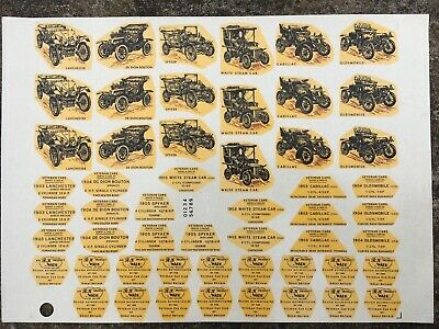 Vintage Original Wade Decals Transfer Veteran Car Series 3 53x Sheet Side & Base