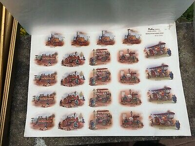 Vintage Original Wade Decals Transfer Steam Power Sheet  Matthey 24x