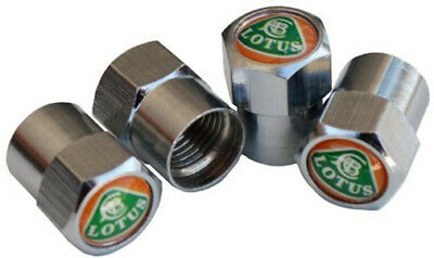 Chrome Valve Caps x 4 for LOTUS Elise Evora Elan Exige Europa Seven Esprit Turbo