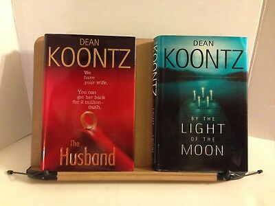 2 Dean Koontz HC 1st Edition Books The Husband & By the Light of the Moon