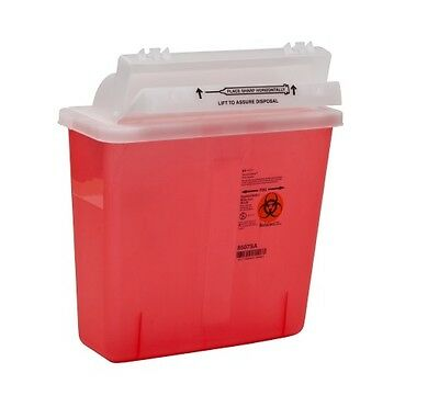 CASE OF 20 Covidien Kendall RED 5QT SHARPS CONTAINER 8507SA 5 Quart Sharp Tattoo