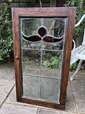 Vintage Stained Glass Leaded Window Panel Architectural Decorative Reclaimed