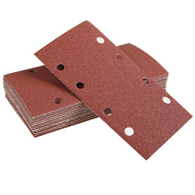 25 Pcs Sanding Pads,Sanding Paper Hook and Loop Sand Sheet 93x185mm Punched X8P5