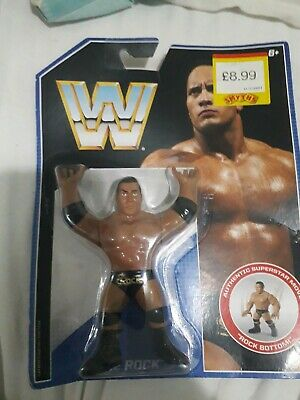 Wwf Wwe Mattel Retro Series 2 The Rock Moc wrestling figure hasbro