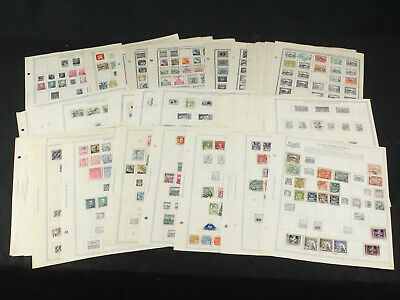 Czechoslovakia Stamp Collection Remainder Pages Minkus+ Lots of Early Hradcany+