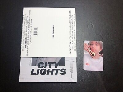EXO BAEKHYUN 1st Mini Album CITY LIGHTS CD Day Ver. with Photocard A