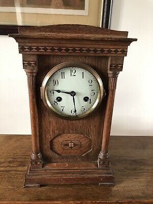 Antique mantle clock. Victorian Hamburg America Chiming C-1890 . 8 Day GWO.