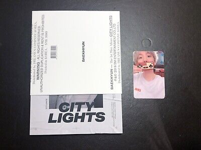 EXO BAEKHYUN 1st Mini Album CITY LIGHTS CD Day Ver. with Photocard B