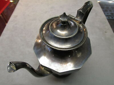 F B Rogers Silver Co Tea Pot Quadruple Plate Silver Style 1255 Antique