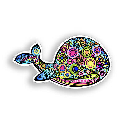 Narwhal Unicorn Sticker Whale Cup Laptop Cooler Car Vehicle Window Bumper Decal