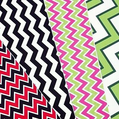GRAB BAG of CHEVRON PATTERN Craft Vinyl! 6 12x12 Pieces Perfect for Vinyl