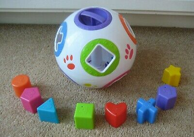 White Plastic Shape Sorter With 8 Numbered Shapes SUPERB CONDITION