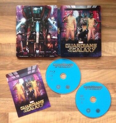 Guardians Of The Galaxy - Zavvi Exclusive 3D & 2D Bluray Lenticular Steelbook