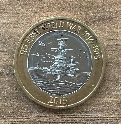 100th ANNIVERSARY OF FIRST WORLD WAR - £2 Two Pound Commemorative Coin 2015 SHIP