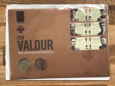 ANNIVERSARY OF VICTORIA CROSS 50p Coin FIRST DAY PROOF COIN & STAMP COVER 07372