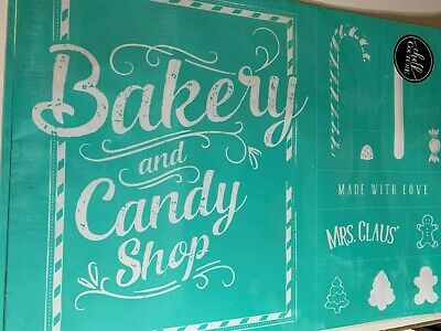 Chalk Couture Transfer, Mrs. Claus' Candy Shop, RARE HTF