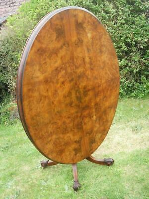 An Antique Victorian Oval Walnut Tilt Top Breakfast / Loo Table Local Delivery