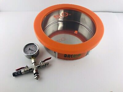 BACOENG 1 Gallon Flat Vacuum Chamber Degassing Silicone Kit -No Hose