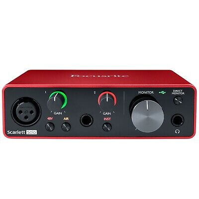 Focusrite SCARLETT SOLO 3rd Gen 192kHz USB Audio Interface w Pro Tools First