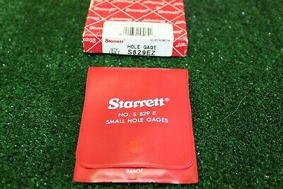SMALL HOLE GAGE SET OF 4, STARRETT  No. S829EZ, SKU 12273