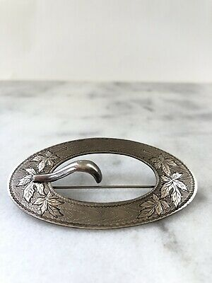 Antique Sterling Silver Victorian Edwardian Sash Pin