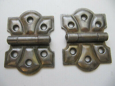 Vintage Decorative Cabinet Hinges Pair #1