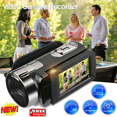 "HD 1080P 16X ZOOM Digital Video Camera Camcorder 24MP 2.7"" LCD Night Vision Cam"