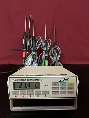 Cole Parmer 8502-12 Digital Thermistor Thermometer 5 Input with Probes / TESTED