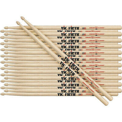 Vic Firth 12-Pair American Classic Hickory Drumsticks Wood 5A. Free Delivery