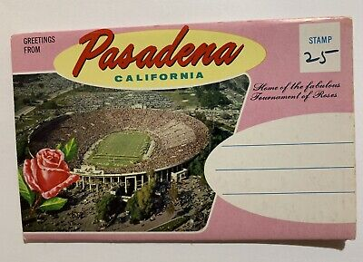 Postcard Folder from  Pasadena, California - Home Of The Tournament Of Roses