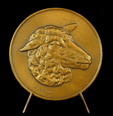 Medaille Mouton Sheep head animal sc Bertrand 50 mm 56 g medal