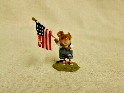 Wee Forest Folk Homegrown Stars & Stripes Fourth of July Special FB-5a-Cla Mouse