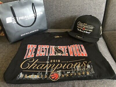 "Toronto Raptors x OVO Championship T-shirt & Snapback ""The best In the World"""