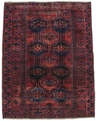 Vintage Tribal Style Lori 5'5X7' Hand Knotted Rug Oriental Home Décor Carpet