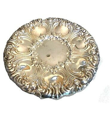 """Gorham Repousse Silver-Plated Tray Platter Plate """"Versailles"""" 10.5"""""""