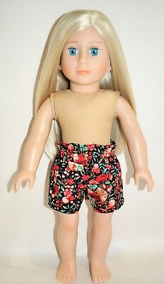 18 Inch Dolls Clothes American Girl Our Generation Paper Bag Waist Shorts Only