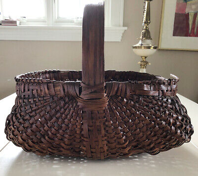 "Antique Buttocks Style/ Gathering Basket- 16"" long"