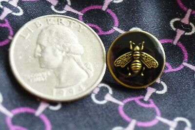 🖤💛100% Gucci Buttons 3  pieces    12  mm 0,6  inch bee small metal