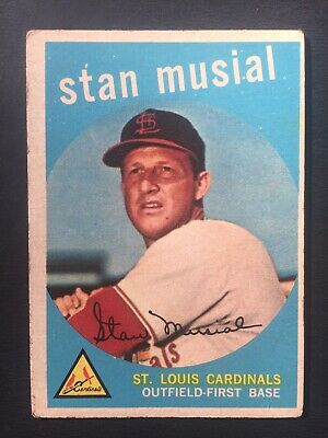 1959 Topps Stan Musial #150 St. Louis Cardinals Baseball Card Estate Sale