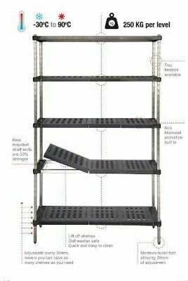 Coolroom Shelving Stainless Steel Post Real Tuff Shelves 2000H x 450W