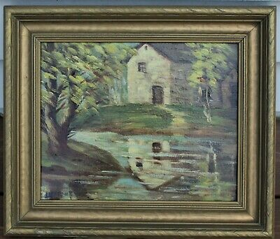 Canadian Painting By Arthur Lidstone (1903-1986) - Old Mill On Credit River