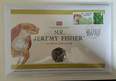 2017 Beatrix Potter jeremey fisher 50p Coin And Stamp Cover